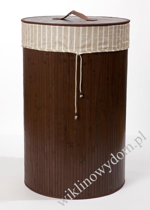 Kosz łazienkowy na bieliznę brązowy