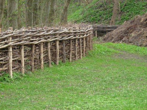 Płot z wikliny. Ogród Botaniczny w Odense. Projekt Jan Johansen.