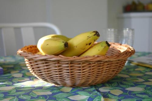 Tacka wiklinowa z bananami. Wiklinowy Dom