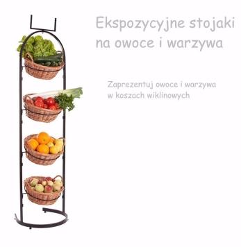 Ekspozycyjne stojaki na owoce i warzywa. Kosze sklepowe GABA 2
