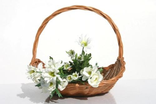 FLORA kosz kwiatowy. Wiklinowy Dom