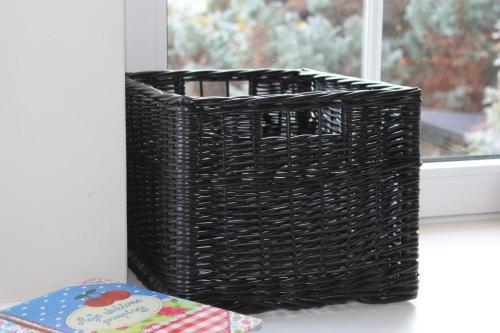 Willow Box Black koszyk wiklinowy