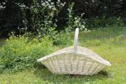 ARTUS biały koszyk weselny. Wiklinowy Dom